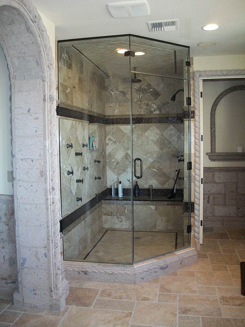 Cohaco building specialties mesa custom home neo angle for Build steam shower