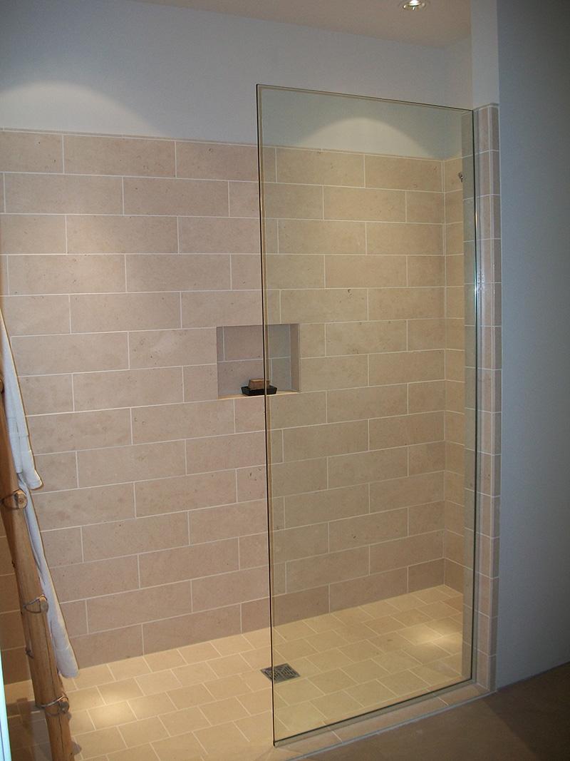 Cohaco building specialties splash panel safari drive Shower glass panel